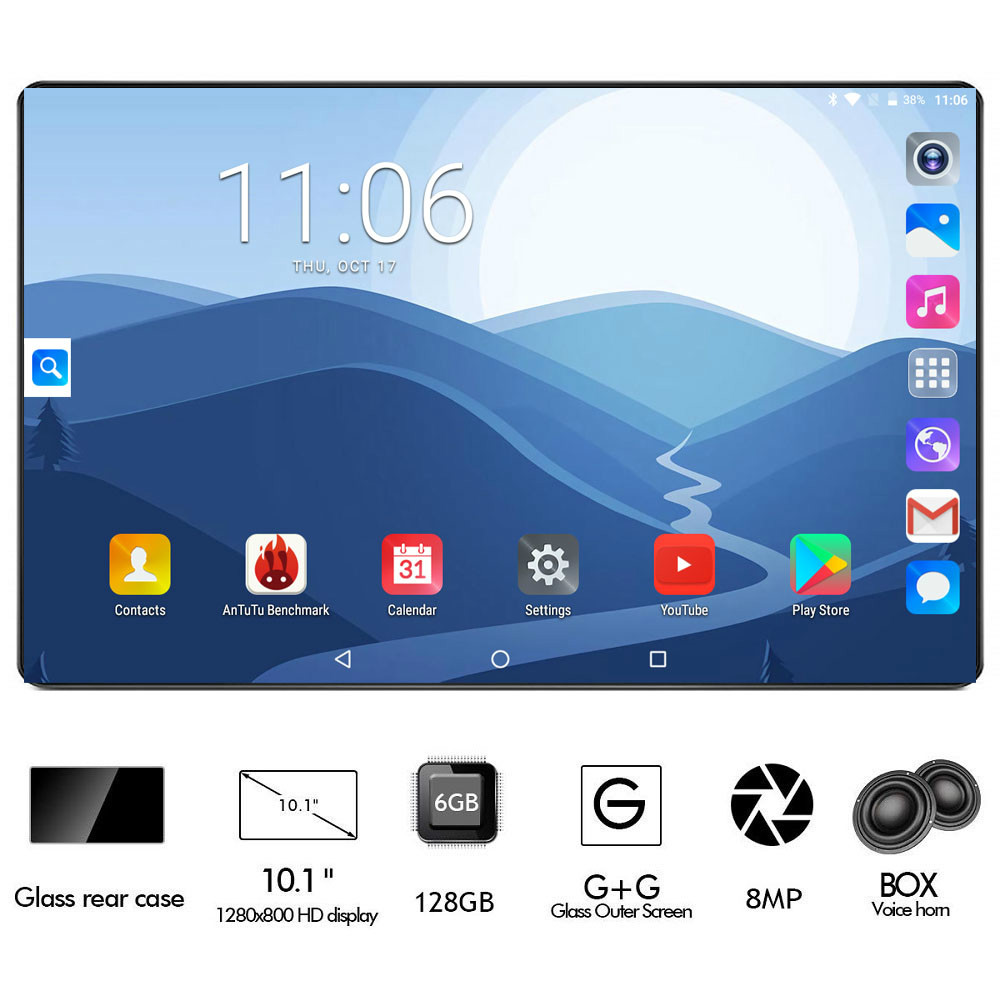 2020 Google Play Android 8.0 OS 10 Inch Tablet 4G FDD LTE Octa Core 6GB RAM 128GB ROM 1280X800 IPS Kids Gift Tablets 10 10.1
