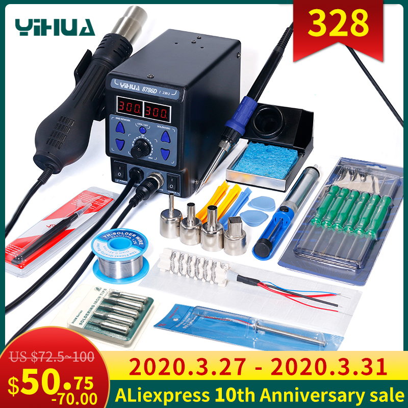 YIHUA 8786D Hot Air Digital Soldering Station for Phone and Laptop Chip Soldering 1