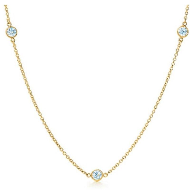 SHINETUNG Аутентичные 1:1 S925 стерлингового серебра ожерелье капля цвета золота кулон модное ожерелье для женщин изысканные высококачественные ю