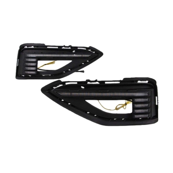 LED Daytime Running Light for Jetta Sagitar 2019+, LED Front Bumper DRL with Streamer Yellow Turn Signals Light