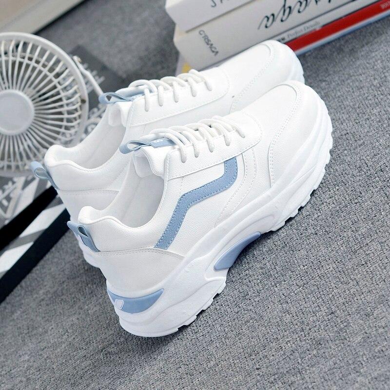 New Sneakers Women Platform Casual Shoes Women's Fashion Sneakers Platform Basket Femme Casual Chunky Shoes Zapatos De Mujer