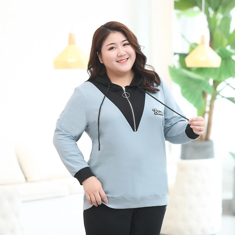 3XL-7XL Women Plus size Hoodies Sweatershirts Autumn Casual Hooded Pullovers 5XL 6XL Large Size Female Sweatershirt Tops