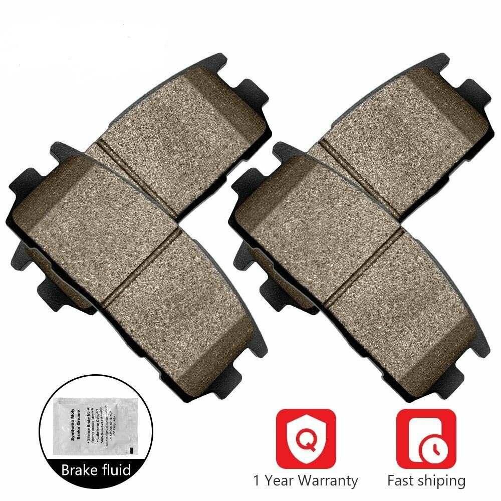 Front And Rear Ceramic Brake Pads For 2002 2003 2004 2005 2006 Acura RSX
