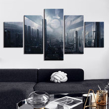 Wall Posters And Prints 5 Piece Natural scenery Wall Art Canvas Paintings Art Wall Picture Home Décor(China)