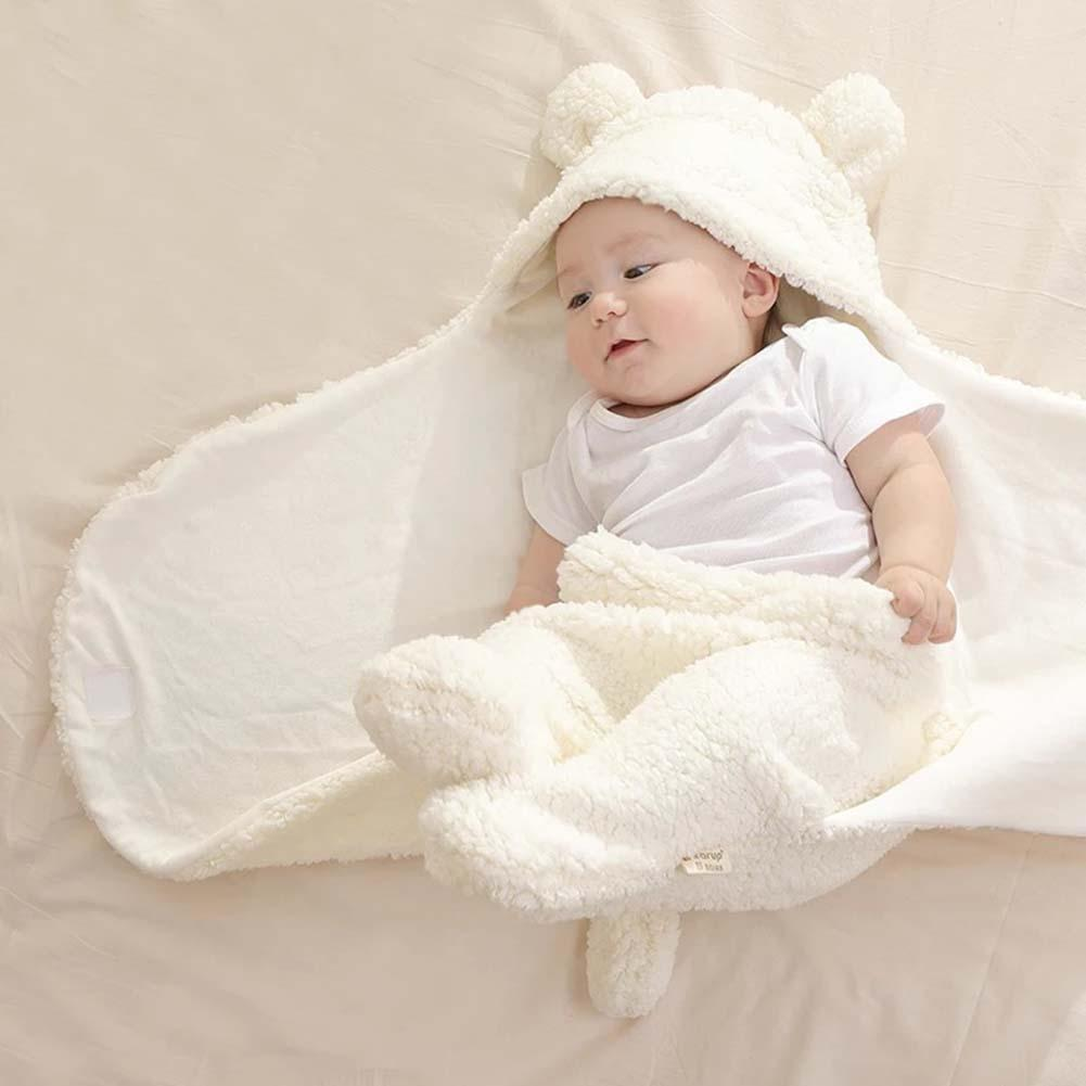 Unisex Baby Warm Comfortable Cartoon Envelope Swaddle Winter Wrap Blanket