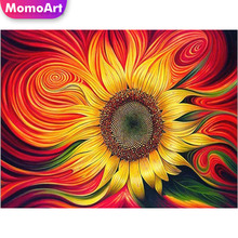 MomoArt 5D Full Drill Square Diamond Painting Flowers Cross Stitch Diy Diamond Embroidery Handmade Wall Decoration momoart 5d full drill square diamond painting flowers diy diamond embroidery daisy cross stitch home decoration gift