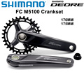 Шатун SHIMANO DEORE FC M5100 M5100 1x11-Speed 11s 11v 32T 175 мм 170 мм 32T 34T, совместим с M7000 BB52