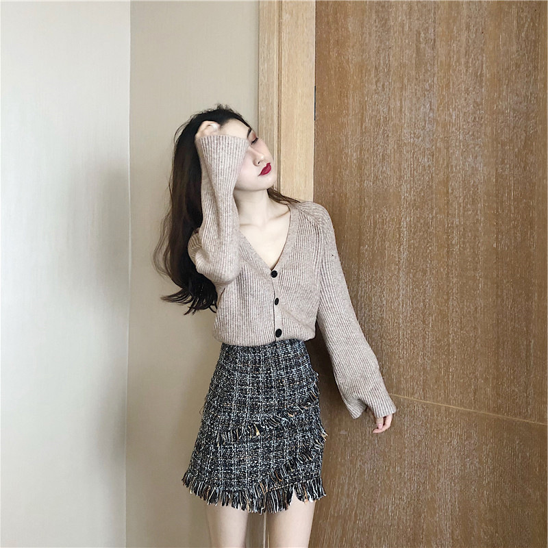 European Goods 2019 Autumn Clothing Early Autumn Hoodie Half-length Skirt Graceful High Cold Royal Sister-Style Western Style Tw