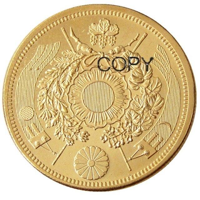 Meiji-pièce de monnaie or plaquée 3,9mm | 20 yen-meiji, 10,13 ans, japon