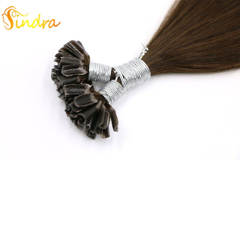 Sindra 100% Remy Hair Extensions U Tip Hair Pre Bonded Hair Extensions Nature Color#2 50g 100g U Tip Hair