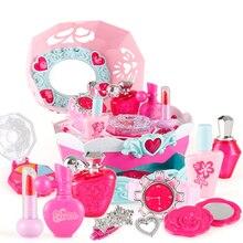 11 шт. макияж комплект коробка моделирование звук и свет туалетный столик принцесса играть дома детские Притворись играть игрушки