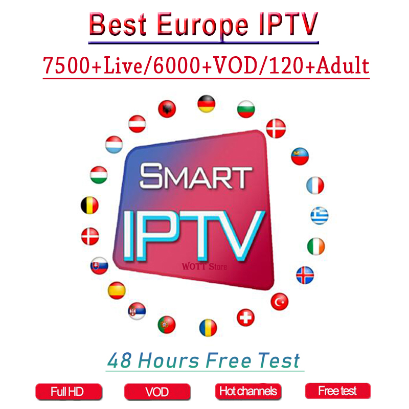 1 Year Europe US UK Brazil Poland Spain French IPTV Subscription 7500+Live France HD IPTV M3u Enigma Vod Sports Adult Free Test