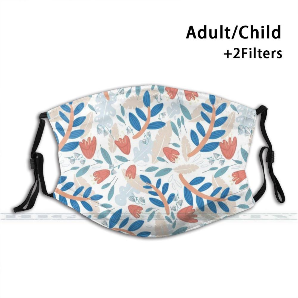 Trama floral lavandas y flores moda impressão reutilizável engraçado pm2.5 filtro boca máscara facial floral naturaleza ilustración