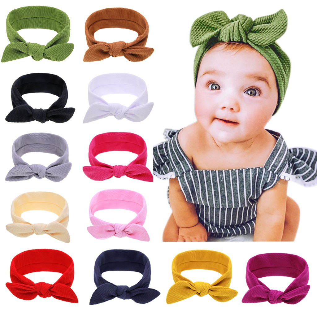Для новорожденных и детей, повязка на голову, повязка для малышей для маленьких девочек бант повязка на голову аксессуары для головных убор...