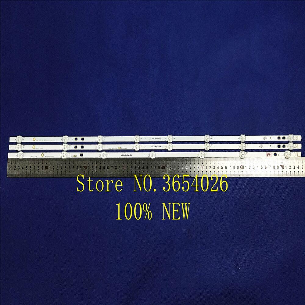 9piece/lot  100%New LED Backlight Strip For LG Bush Vestel 40 Inch LB40017 17DLB40VXR1 VES400UNDS-2D-N11 VES400UNDS-2D-N12