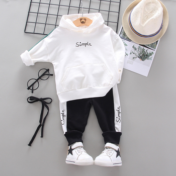 цена на 2020 Spring Autumn Children Toddler Baby Boys Girls Clothes Hoodies Pants 2Pcs/set Outfit Infant Kids Casual Clothing Tracksuits
