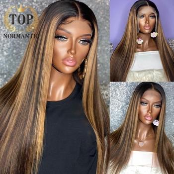 Topnormantic 26 #8222 wyróżnij kolor Silky prosto T częściowo koronka peruki dla kobiet Remy brazylijski ludzki włos peruka wstępnie oskubane włoskowate tanie i dobre opinie Proste CN (pochodzenie) Włosy remy średni rozmiar przezroczyste WSZYSTKIE KOLORY szwajcarska koronka Brazylijskie włosy