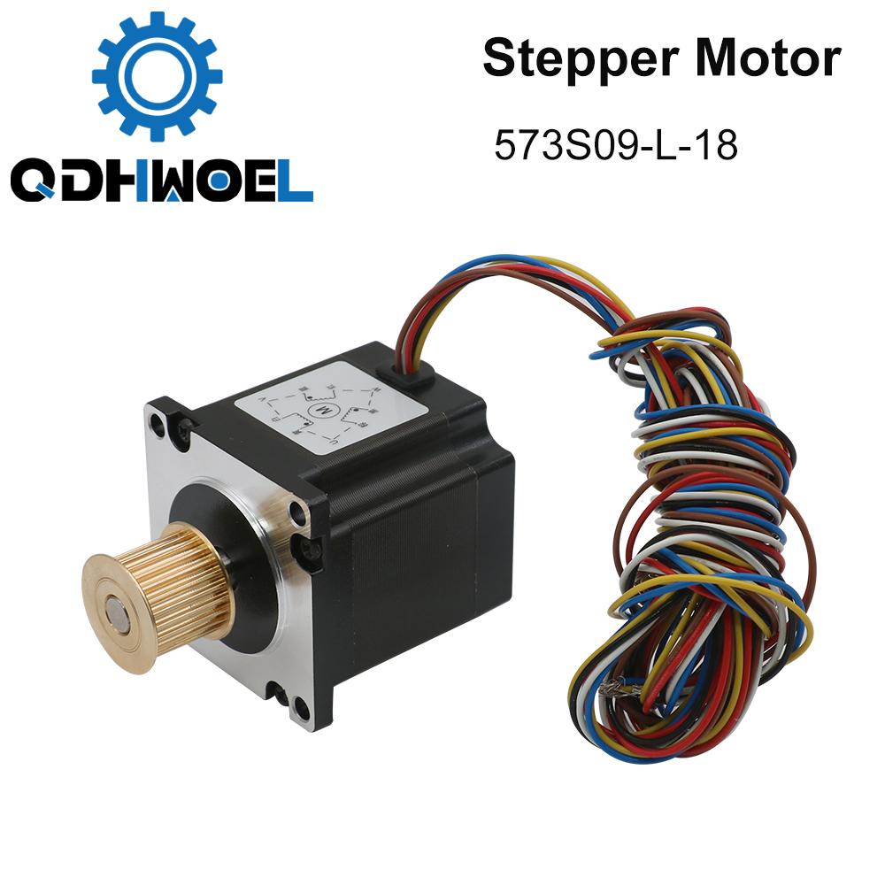 H5be649d682434ccfa753d7f58d2511b4n - QDHWOEL Leadshine 3 Phase Stepper Motor 573S09-L-18 for NEMA23 3.5A Length 50mm Shaft 6.35mm