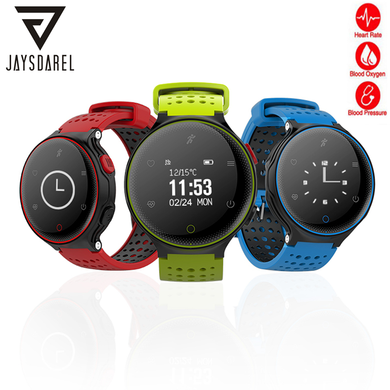 JAYSDAREL X2 Heart Rate Blood Pressure Oxygen Monitor Smart Watch Long Standby Time Fitness Smart Wristwatch For Android IOS