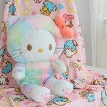 New 60cm Sweet Cat Plush Toy with Blanket Soft Stuffed Cartoon Animal Doll Home Decoration Nap Pillow Cushion Girl Birthday Gift стоимость