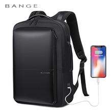BANGE Professional Men Business Backpack Waterproof Travel Backpack 15.6'Laptop Backpack School Bag Office Men Backpack