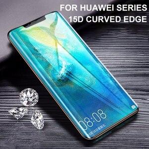 Image 5 - 15D Volledige Gebogen Beschermende Glas Voor Huawei P30 P20 Lite Pro 9h Gehard Glas Screen Protector Op P20 P30 lite Mate 20 Lite 20X