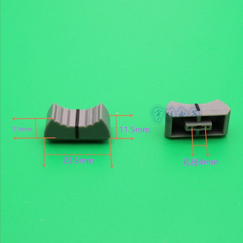 10 x Black Slide Potentiometer Mixer Fader Knob 19mmLx12mmW for 4mm Shaft EPLU