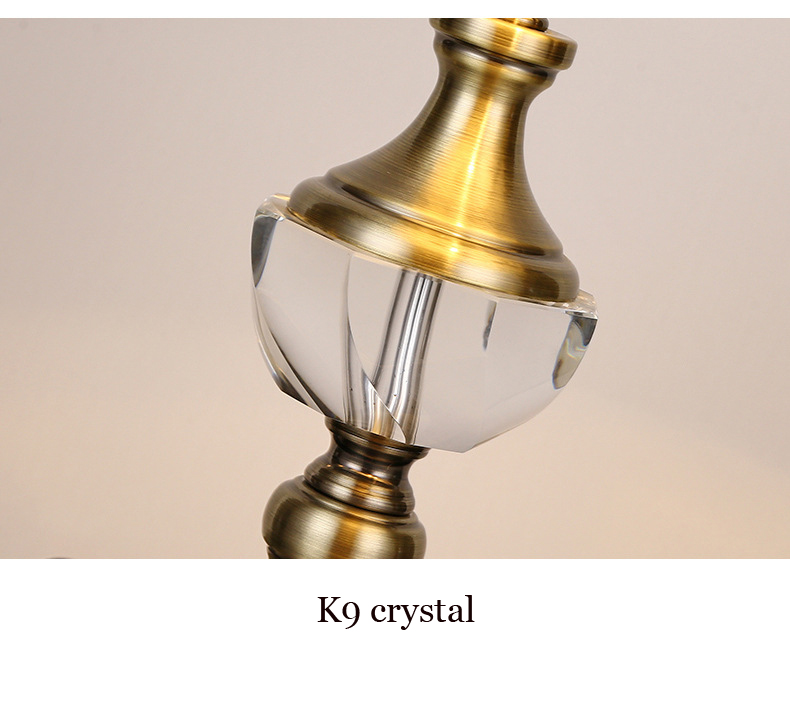 Luz da tabela de cristal europeu lâmpada