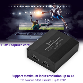 4K HDMI Video Capture Card USB to HDMI Video Grabber with Loop Out Household Computer Accessories for PC Phone