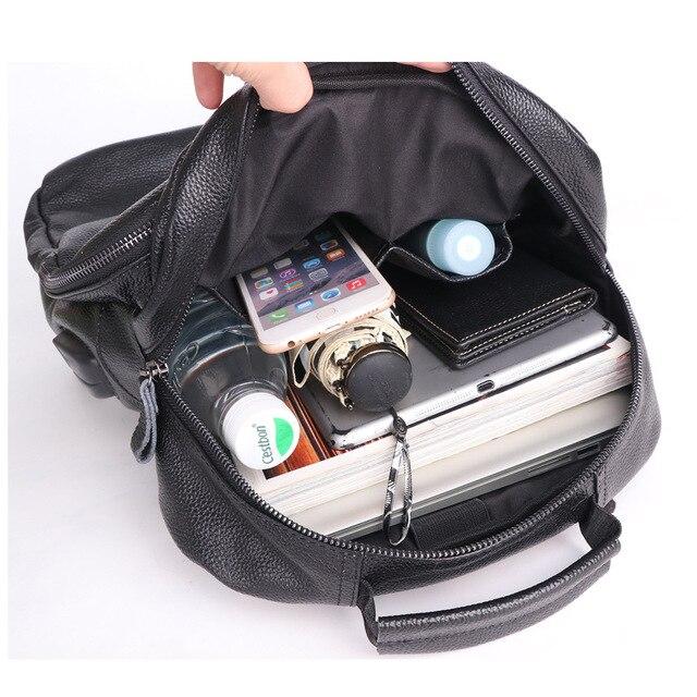 Фото кожаный рюкзак для мужчин модная вместительная уличная дорожная цена