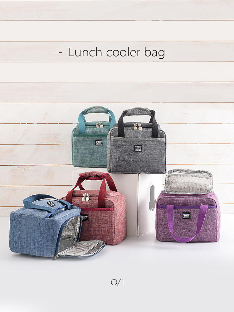 Pouch Lunch-Bags Travel Picnic Dinner-Box Oxford Waterproof Insulated Food-Case-Accessories-Supplies