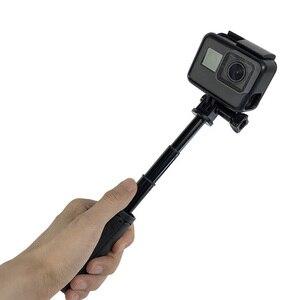 Image 5 - Mini palo de Selfie + mango extensible trípode para GoPro Hero 7 6 5 4 para EKEN H9 H9R