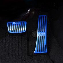 Pedal de freno de combustible para coche, acelerador de aluminio, cubiertas de placa, almohadillas antideslizantes para Hyundai Tucson 2015 2016 2017 2018 2019