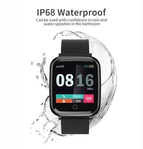Image 2 - Femmes montre intelligente IP68 étanche smartwatch moniteur de fréquence cardiaque Sport Fitness montre appareils portables pour ios Android cadeau sangle