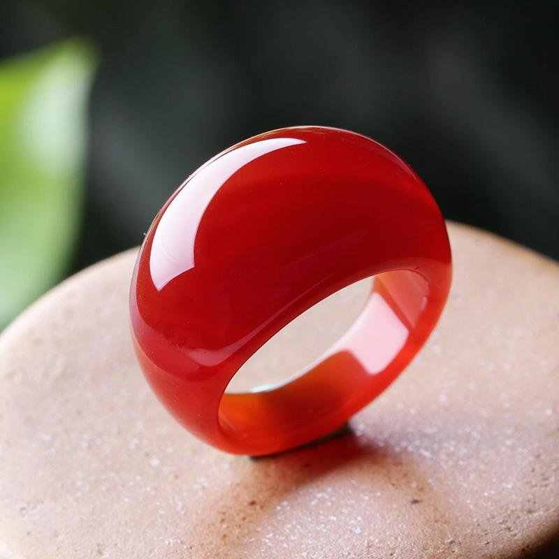 สีเขียวจริงแหวนหยกคริสตัล chalcedony แหวนหางแหวนธรรมชาติผู้ชายผู้หญิงเครื่องประดับ lucky หินหยกนิ้วมือแหวนแบรนด์อัญมณี