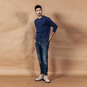 Image 3 - سيموود 2020 جينز ربيع وشتاء جديد موضة رجالية ممزق جودة عالية ملابس ماركة كبيرة الحجم سراويل دينم 190361