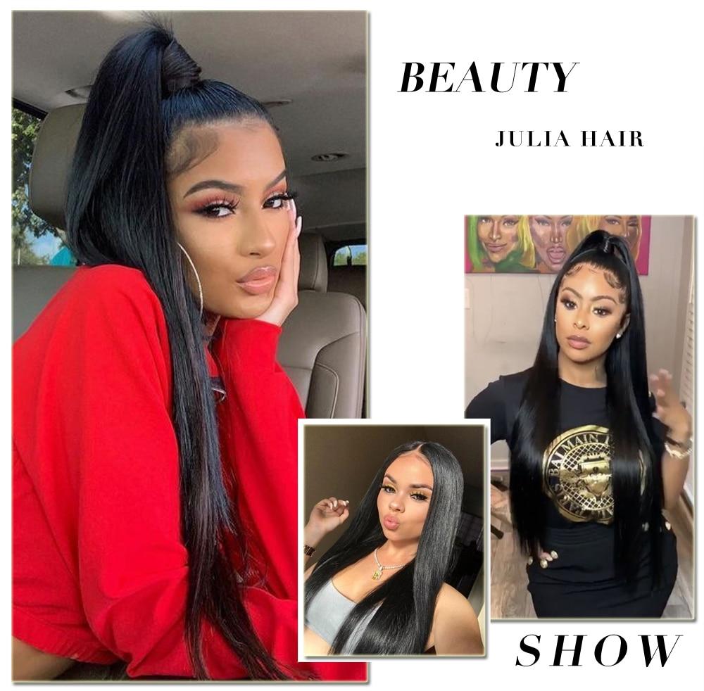 Ali Julia Hair Brazilian Straight Human Hair Bundles Remy 8 Inches to 30 Inches 1PC 3PCS 4PCS 100% Human Hair Weave Extensions (1)