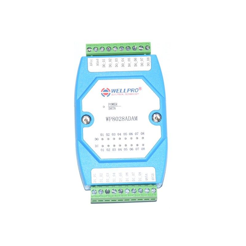 8DI 8DO Digital Input And Output Module Optocoupler Isolated RS485 MODBUS RTU Communication Module WP8028ADAM
