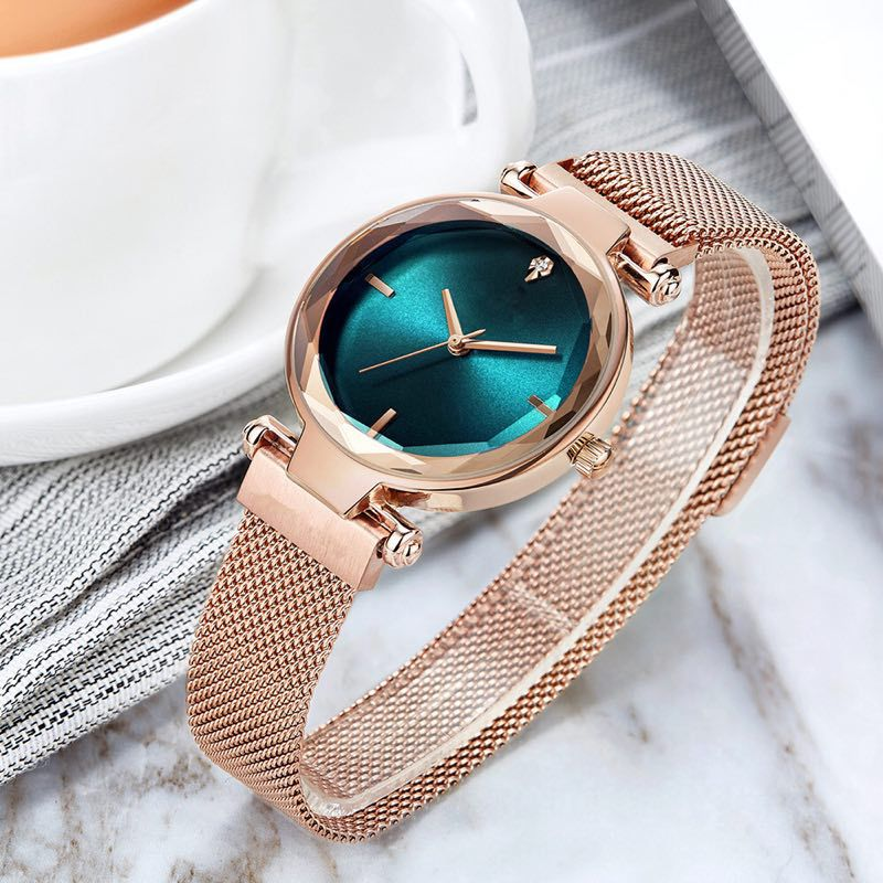 Women's Watches Magnetic Watch Rose Gold Bracelet Wristwatches Clock Relogio Feminino Female Ladies Watches Women Reloj Mujer