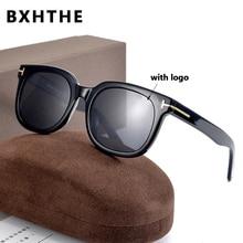 New Tom TF 211 Polarized Sunglasses With Logo Real Handmade Acetate Frame Women