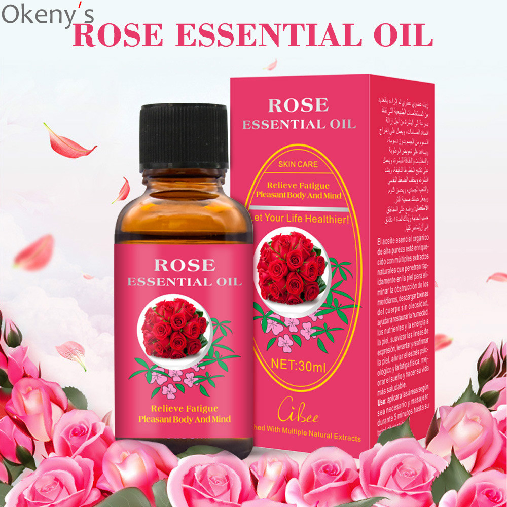 New Product Pure Plant Essential Oil Rose Body Massage Oil 30ml Thermal Body Rose Essential Oil For Scrape Therapy SPA