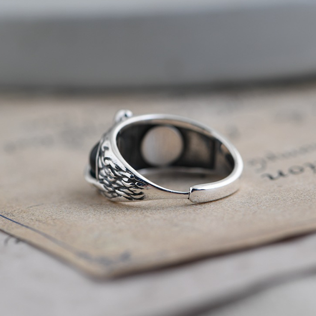 Charm Vintage Cute Men and Women Simple Design Owl Ring Silver Color Engagement Wedding Rings Jewelry Gifts 3