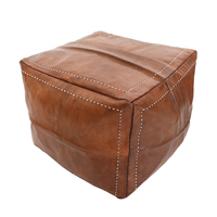 Pu Leather Lazy Sofa Sofa Feet Beanbag Square Mound Portable Single Bedroom Balcony Recreational Couch Couch Rice