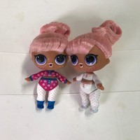 8cm Change Color Naked Series 5 Big Sister Hair Dolls without ball Kids Toy Gift Original LOL Surprise
