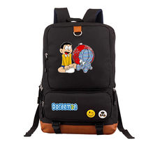 Japan anime Doraemon backpack shoulder bag Students bookbag schoolbag men women Male Female Package Printing canvas Backpacks(China)