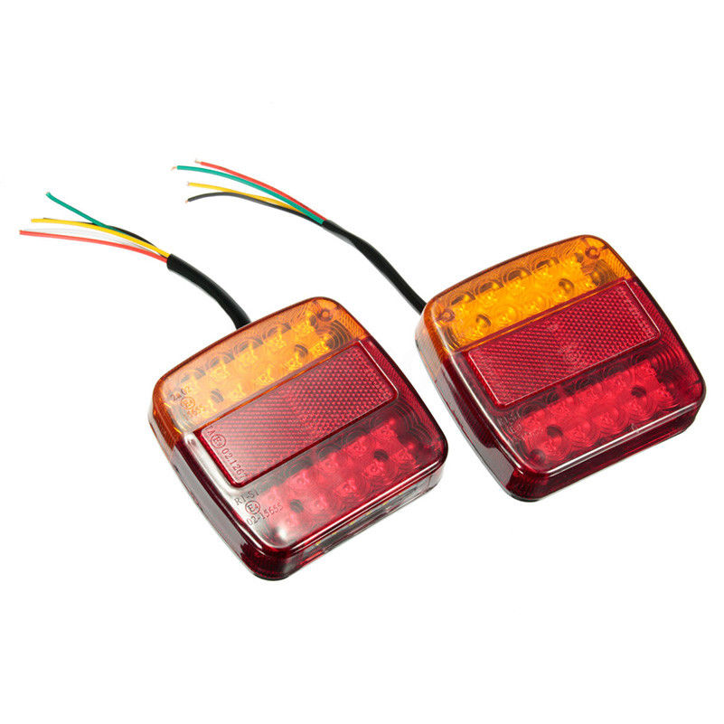 2pcs new 12V LED Car Trailer Truck Taillight Brake Stop Turn Signal light AS ABS shock Resistant Universal in Truck Light System from Automobiles Motorcycles