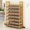 Многофункциональная деревянная многослойная бамбуковая стойка для обуви для домашнего использования многофункциональная бамбуковая дос...