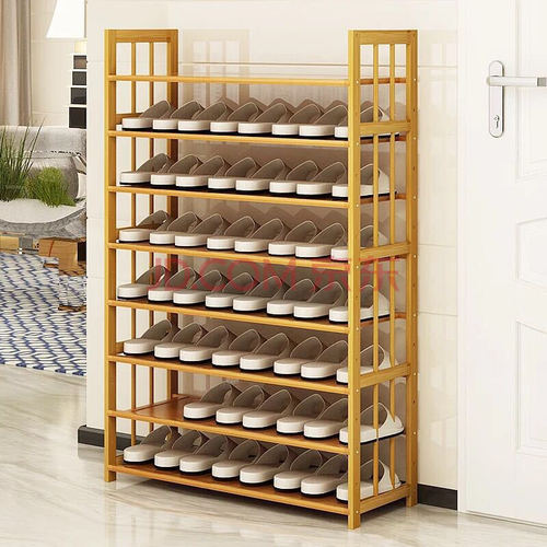 Multi-functional Wooden Multi-layer Bamboo Shoe Rack For Household Use Multi-functional Bamboo Pattern Board Bamboo