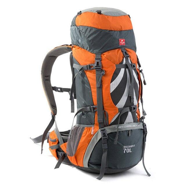 حقائب ظهر للجري 70L سعة كبيرة تسلق الرحلات حقيبة السفر للجنسين سوفتباك مقاوم للماء حقيبة الظهر