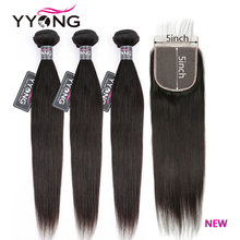 Yyong волосы 5x5 застежка пряди 14 30 дюймов перуанские прямые